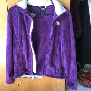 Purple fuzzy North Face